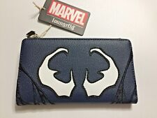 Nwt! Loungefly Marvel Venom spooky Eyes Snap Wallet Spider Charm Zipper Pull