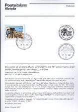 ITALIA 2007 STUDI CINECITTA' ROMA   BOLLETTINO COMPLETO DI FRANCOBOLLI FDC