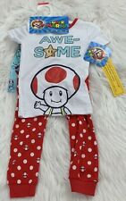 Super Mario Toddler Boys Size 4T Sleepwear 3 Piece Set Pajamas