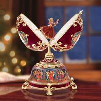 Clara Ballerina Egg Nutcracker Music Box Christmas - Bradford Exchange