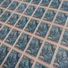 FEUILLE SHEET TIMBRE CROIX ROUGE RED CROSS N°1620 x50 1969 NEUF ** LUXE MNH