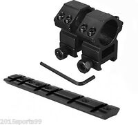 """For Ruger 10/22 Mounting Kit - 1"""" Rings Heavy Duty & 10/22 Scope Base Mount #6"""
