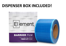 """Barrier Film with DISPENSER Sticky Wrap BLUE Dental Tattoo 4""""x6"""" (1200 Sheets)"""