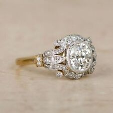 2 CT Diamond Vintage Edwardian Circa Inspired Vintage Art Deco Engagement Ring