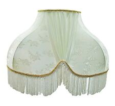 Antique White Victorian Scallop Decor Lamp Shade Made In Italy