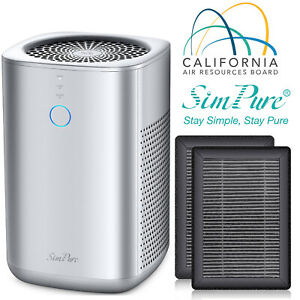 SimPure® Best For Home Air Purifier True HEPA Filter Air Cleaner 3-Stage Filter