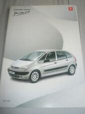 Citroen Xsara Picasso brochure Mar 2000