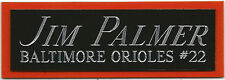 JIM PALMER NAMEPLATE FOR AUTOGRAPHED SIGNED Baseball Display CUBE CASE