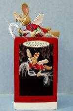 1994 Hallmark Angel Hare Keepsake Christmas Ornament Flying Bunny Rabbit Mib Box