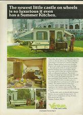 1974 vintage ad, VENTURE TRAVEL TRAILERS, w/ Summer Kitchen -042013