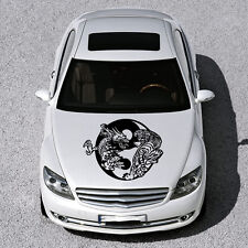 Dragon Tiger Sign Yin and Yang HOOD CAR VINYL STICKER DECALS GRAPHICS SV3661