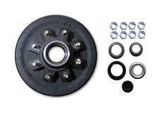 "Complete 12 x 2"" Trailer 8 x 6.5 Lug Brake Drum 7000# Axle 6000# w/Bearings hub"