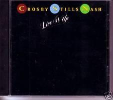 CROSBY STILLS and NASH Live it up PROMO DJ CD Single David & Stephen 1990