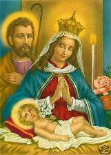 Catholic Print Picture Holy Family Nativity Christmas - ready to be framed