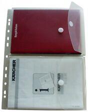 5x Dokumententaschen Umschläge 2x A5 auf A4 Klettverschluss Abheftrand farblos