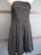 White House Black Market Dress 2 Black Strapless Ruffle Top Boning Quality Chic