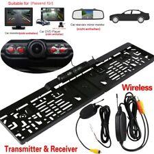 Kit de Caméra de recul Radio 170° IR plaque d'immatriculation + vidéo récepteur