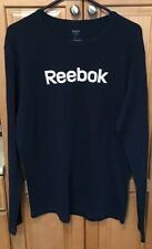 Reebok Thermal Waffle Knit Long Sleeve Shirt XL Blue Navy