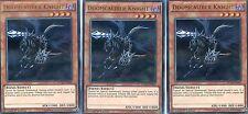 YUGIOH CARD - 3 X DOOMCALIBER KNIGHT -  DUELIST SAGA   DUSA-EN056