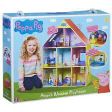 Peppa Pig Peppa's Wooden Playhouse Set with Peppa & George Figures - 0PP-07004