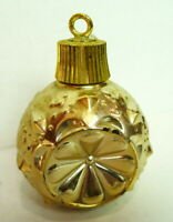 Avon Ornament Christmas Decanter Round Gold Ball Styled Ornament 1960's