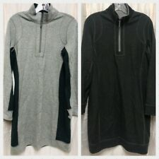 Tommy Bahama Marled Flip Side Half Zip Dress Reversible Noir/Grey-Medium