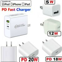 Fast Wall Charger PD Power Adapter Type-C For iPhone 12 11 Pro Max Samsung LG