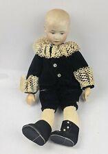 Antique Bisque Head Heubach Germany Boy Doll - 9 inch