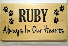 Grande Personalizzata Memorial PET Placca / firmare-CANE / GATTO grave contrassegno degli animali