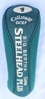 CALLAWAY BIG BERTHA Driver GOLF Club STEELHEAD PLUS GEM Head-Cover Green 1 Wood