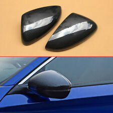 Glossy Carbon Fiber Look Side Mirror Covers For Honda Accord 2018+ Accessories