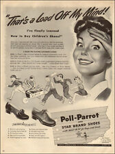 1943 WW II era AD POLL PARROT SHOES for Boys and Girls Kids Scrap Drive 021818