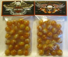 2 Bags Of American Motorcycle Legend Promo Marbles