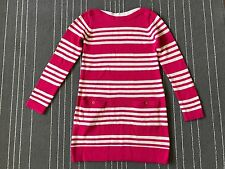 Gap Kids Fushia/white striped Sweater Tunic dress L 10