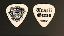 L.A. Guns - Tracii Guns 2012 Hollywood Forever Tour Signature Guitar Pick White