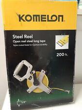 Komelon N6200 Open Reel Long Steel Tape Measure, 200-Feet
