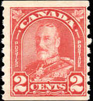 Mint NH Canada 1931 2c Coil F+ Scott #181 KG Arch-Leaf Stamp