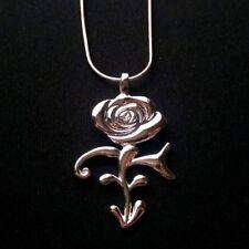 PRINCE NECKLACE Rare Rose Symbol Pendant Silver Plated~Music~3121~Purple Rain
