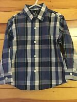 Nautica Plaid Shirt Boys Blue/Navy/White/Red Long Sleeve Button Down Top Size 2T