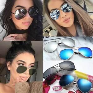 AC Aviator Sonnenbrille Pilotenbrille Spiegelbrille Retro Gestell Damen Herren