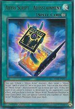 YU-GI-OH CARD: ABYSS SCRIPT - ABYSSTAINMENT - ULTRA RARE - BLLR-EN013 - 1st ED