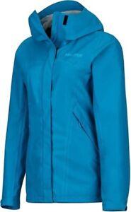 Women's Marmot EVODry Phoenix Waterproof Jacket Size Small, Blue, New With Tags