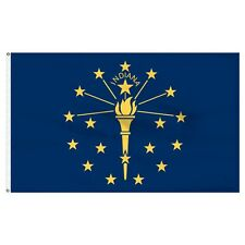 2x3 Indiana Flag 2'x3' House Banner Brass Grommets Super Polyester