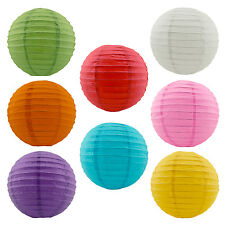 """Chinese Paper Lanterns Lamp Wedding Parties Decoration 8"""" Assorted Colors 8 Pack"""