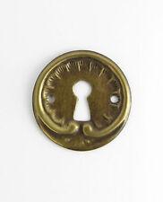 Beschlag RUND Schlüssellochrosette Schlüsselloch Verkleidung MESSING Schublade