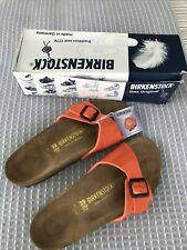 Orange Patent Birkenstocks Size 39
