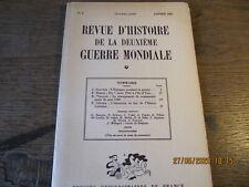 Revue d'Histoire de la deuxième Guerre Mondiale N°5 Janvier 1952