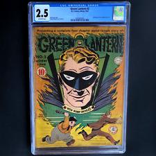 GREEN LANTERN #2 (DC 1943) 💥 CGC 2.5 Off-White 💥 Scarce! Martin Nodell Cvr/Art