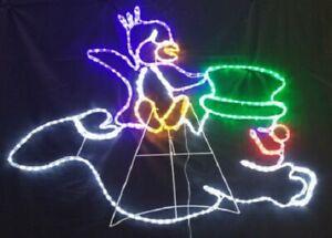 Penguin Riding a Snowman