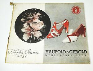 Catalogue Haubold & Fille Mulhouse Printemps Été 1939 Chaussures Schuster